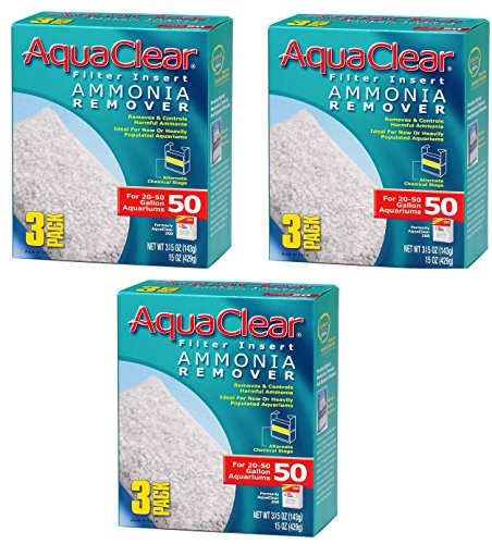 Aquaclear 50-gallon Ammonia Remover 9 Total Filters (3 Packs with 3 Filters per Pack)