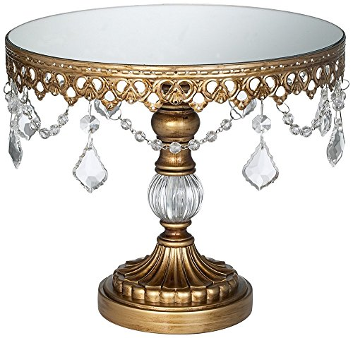 Antique Crystal Round Cake Stand