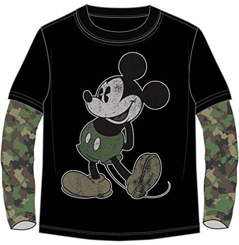 Disney Mickey Mouse Long Sleeve Camo T Shirt (S (6/7))