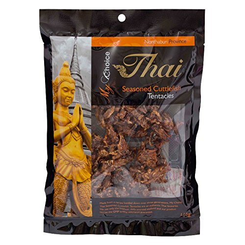 My Choice Thai, Seasoned Tentacles Cuttlefish, net weight 115 g (Pack of 2 pieces)