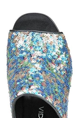 Les Femmes Strategia Mcglcat03047e Polychromes Sandales Sequin