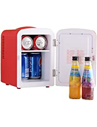 Generic Portable Mini Fridge Cooler and Warmer Auto Car AC & DC Compact Refrigerator for Boat Home Office ,Red