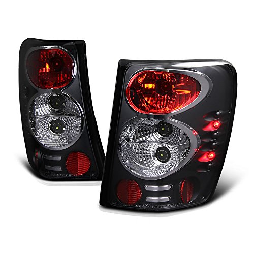 - VIPMOTOZ Altezza Euro Style Tail Light Lamp For 1999-2004 Jeep Grand Cherokee - Black Housing, Driver & Passenger Side