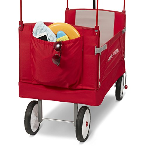 51K828oZ9XL - Radio Flyer 3-In-1 EZ Folding Wagon with Canopy for kids and cargo