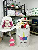 QUEENLALA Large Storage Basket,Collapsible Round