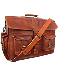 IndianHandoArt 18 Inch Leather Messenger Bag vintange satchel bag Crossbody Bags for Men and Women , Single Luppi …