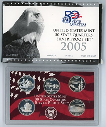 2005 S US Mint Silver Quarters Proof Set Original Government ()