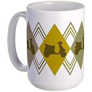 CafePress - Vintage Scooter - Coffee Mug, Large 15 oz. White Coffee Cup