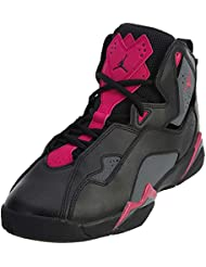 Nike Jordan Kids Jordan True Flight GG Black/Dark/Grey/Deadly/Pink Basketball Shoe 9 Kids US