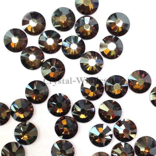 144 Swarovski 2058 Xilion / NEW 2088 Xirius 20ss 4.8mm flatback rhinestones ss20 CRYSTAL BRONZE SHADE F **FREE Shipping from Mychobos - Rhinestone Bronze Crystal