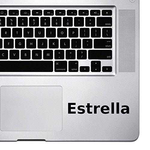 (2x) StickAny Palm Series Estrella Sticker for Macbook Pro, Chromebook, and Laptops (Black) Estrella Series