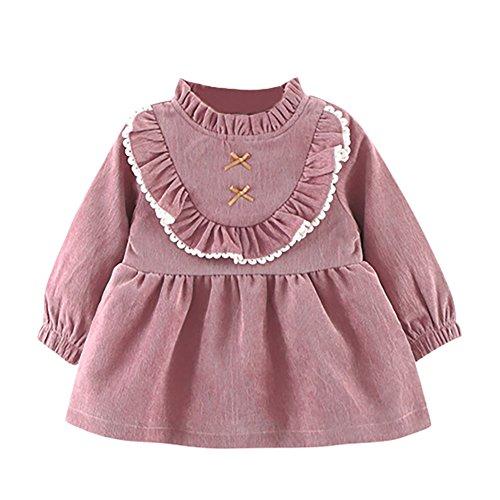 A Maniche Viola Lunghe Laciness Weixinbuy Vestito Abbigliamento Bambino Neonate Casual Principessa 4EaqBwZ