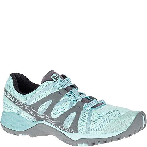 Merrell Women's Siren Hex Q2 E-Mesh Hiking Boot, Bleached Aqua, 8 Medium US (Womens Merrell Azura Waterproof Hiking Shoes Low)