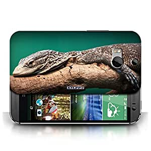 KOBALT? Protective Hard Back Phone Case / Cover for HTC One/1 M8 | Lizard Design | Wildlife Animals Collection
