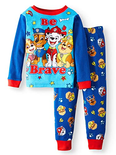 AME Nickelodeon Paw Patrol Be Brave Toddler Boy Cotton Tight Fit Pajamas,Blue,3T