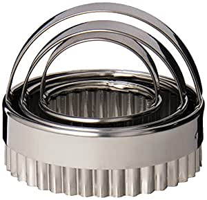 Fox Run 3664 Crinkled Cookie Cutter Set, Stainless Steel, 3-Piece