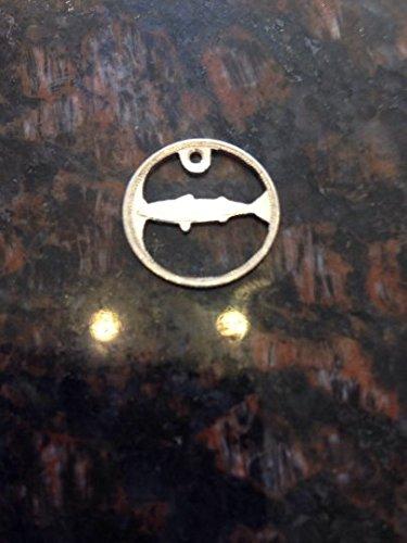 Canada silver dime cut coin featuring fish