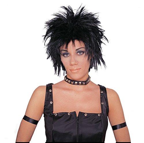 - Costume Culture Men's Rocker Unisex Short Rocker Wig, Black, One Size