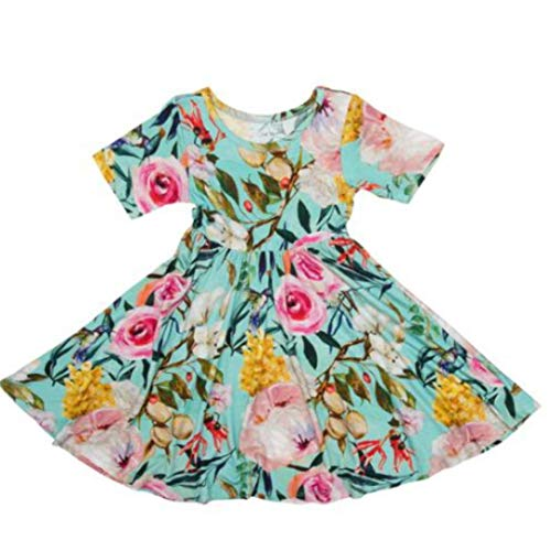 Posh Peanut Little Girls Dresses - Baby Clothes from Soft Viscose from Bamboo - Perfect Kids Summer Dress