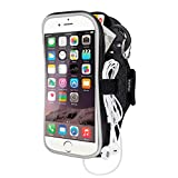 "Sports Cell Phone Armband Case for iPhone Samsung Huawei Blu,EOTW Sweatproof Running Arm Bands Pouch Holder for (5.5"") Similar Sized Smartphones Exercising Gym Walking Cycling - 5.5"" Black"