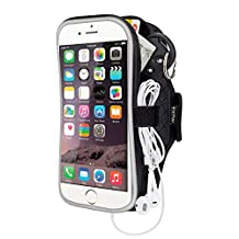 """Sports Cell Phone Armband Case for iPhone Samsung Huawei Blu,EOTW Sweatproof Running Arm Bands Pouch Holder for (5.5"""") Similar Sized Smartphones Exercising Gym Walking Cycling - 5.5"""" Black"""
