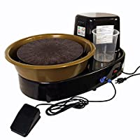 U.S. Art Supply 3/4-HP Table Top Pottery Wheel with LCD Wheel Speed Display - Includes Foot Pedal and 11
