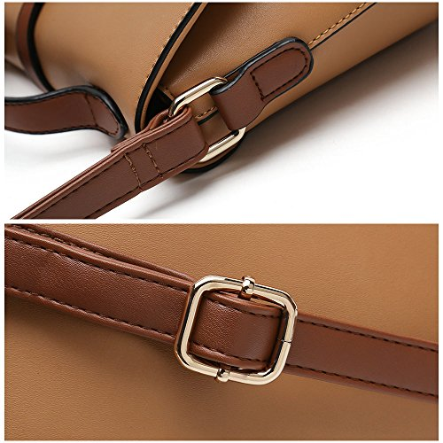 For Light Brown Ladies Shoulder Women Fashion Body Purses Handbag Stylish Cross Designer Bag qnW1tU1