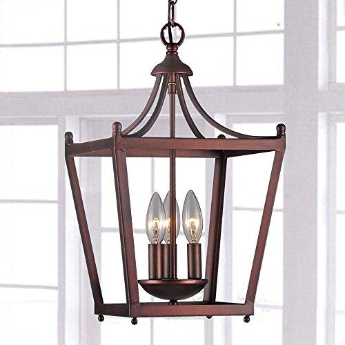Lantern chandelier lighting amazon jacinta 3 light iron pagoda shape lantern chandelier mozeypictures Gallery