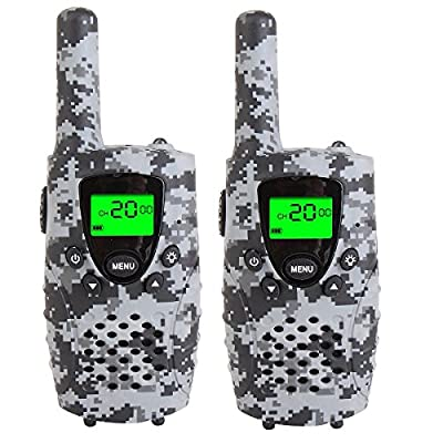 FAYOGOO Kids Walkie Talkies, 22-Channel FRS/GMRS Radio, 4-Mile Range Two Way Radios with Flashlight and LCD Screen. 2 Pack
