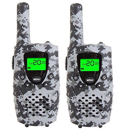 FAYOGOO Kids Walkie Talkies, 22 Channel FRS/GMRS Radio, 4 Mile Range Two Way Radios with Flashlight and LCD Screen. 2 Pack