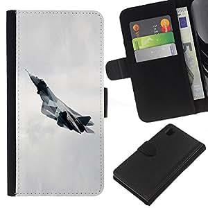 Ihec-Tech / Flip PU Cuero Cover Case para Sony Xperia Z1 L39H - T fighter