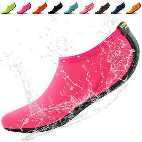 Home Slipper Barfuß Wasser Haut Schuhe Aqua Neopren Socken für Strand Pool Sand Swim Surf Yoga Schnorcheln Rosa