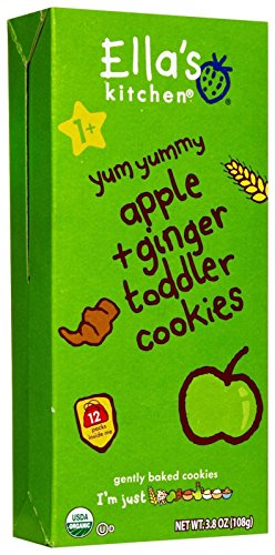 Ella's Kitchen 2 Toddler Cookies - Apple and Ginger - 3.8 oz - (12 Pack)