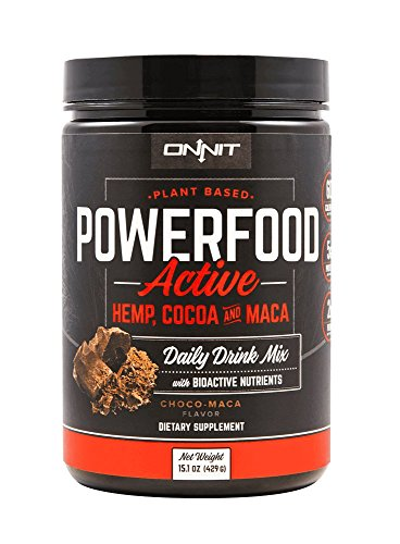 Onnit Powerfood Active: Plant Based Vegan Hemp Protein Powder (30 Servings). Non-dairy, Vegetarian Protein to Help Build Muscle and Recover from Workouts