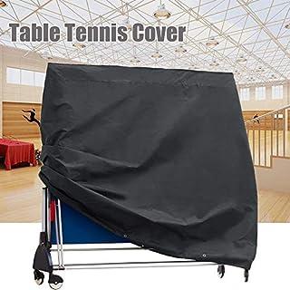 GreenRibbon Housse Table de Tennis Outdoor Imperméable 165x70x185cm en 210D Tissu Oxford Noir