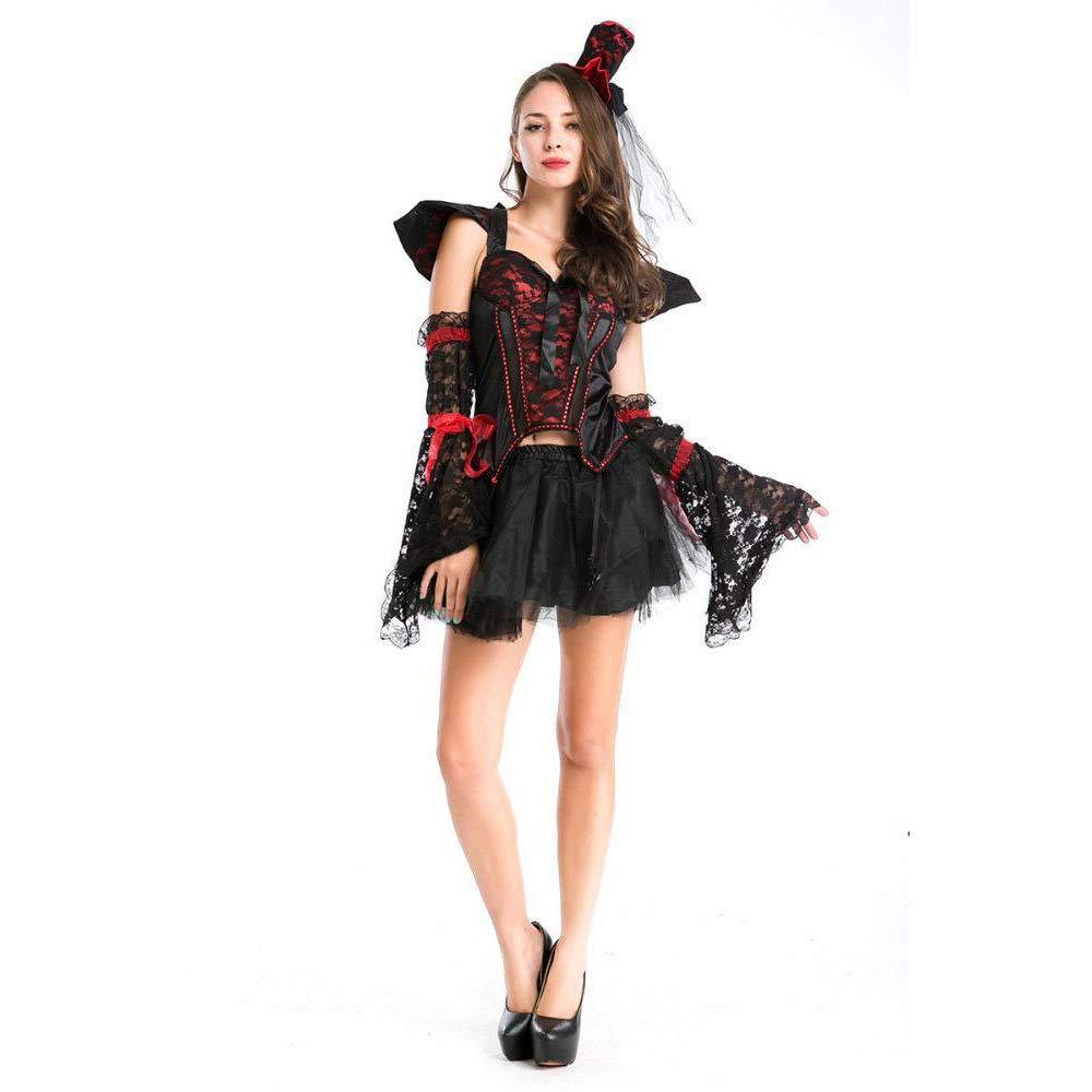Olydmsky karnevalskostüme Damen Halloweenkostüm Hexe Dämon Outfit Vampir Transvestit einheitliche parteikostüm