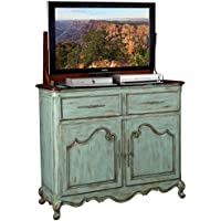 TV Lift Cabinet for 32-46 inch Flat Screens (Weathered Blue) AT006332-BLU