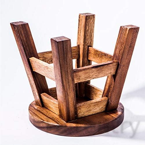 Taburete infantil de madera maciza con dise/ño de perro altura del asiento de 25 cm.