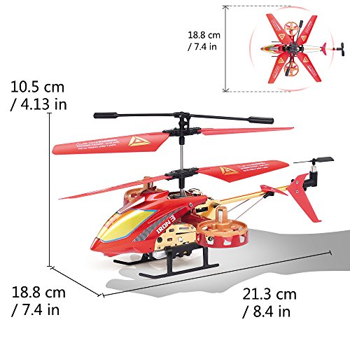 GPTOYS Remote Control Helicopter 4 Channel RC Helicopter with LED Light Indoor Rechargable RC Toys for Kids Boys and Girls by GPTOYS (Image #1)