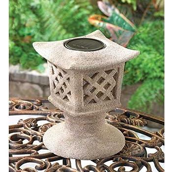 This Item Rock Stone PAGODA Chinese Japanese ZEN Garden SOLAR Outdoor Path  LED Light Lamp
