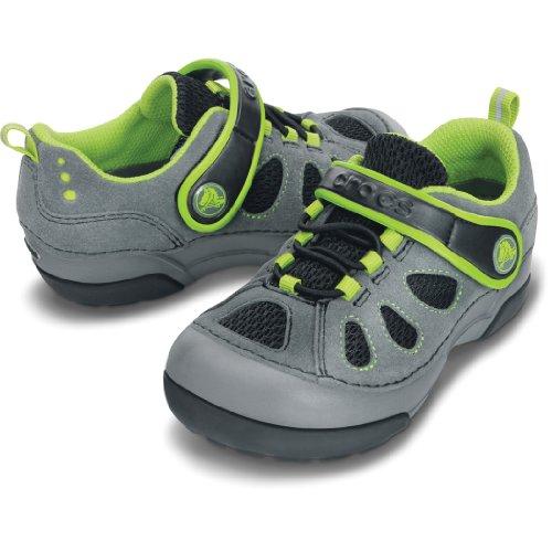 crocs 14498 Dawson EO Sneaker (Toddler/Little Kid),Charcoal/Black,7 M US Toddler