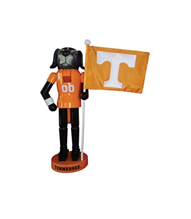 Santa s Workshop 12 Tennessee Mascot Flag Nutcracker Resin, Wood, Nylon