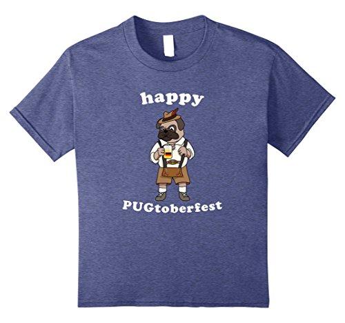 Kids Octoberfest Beer Dog Pugtoberfest Funny Festival Tshirt 10 Heather ()