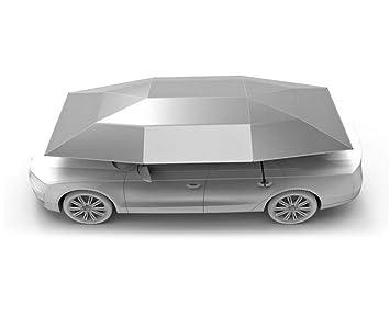 Carpa Autoportada Plegable Control Remoto Portátil Auto Protección Paraguas Refugio Car Hood,Silver