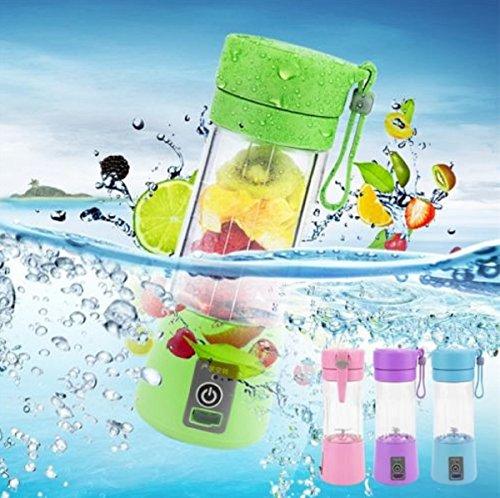 SLM 380ml USB Electric Fruit Juicer Handheld Smoothie Maker Blender Juice Cup EI (Blue)