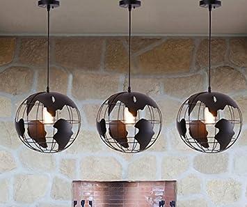 Entzuckend G Ceiling Light Pers?nlichkeit Globus Kronleuchter Restaurant Bar Cafe Cafe  Runde Eisen Kronleuchter,
