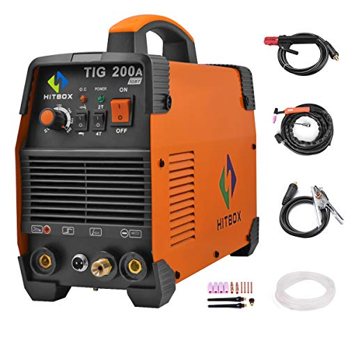 200 amp Portable TIG Welding Machine High Frequency 220V TIG MMA 200 with TIG Stick IGBT Inverter Welder ()