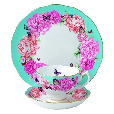 Royal Albert Devotion 3-Piece Teacup, Saucer and Plate Set Designed by Miranda Kerr