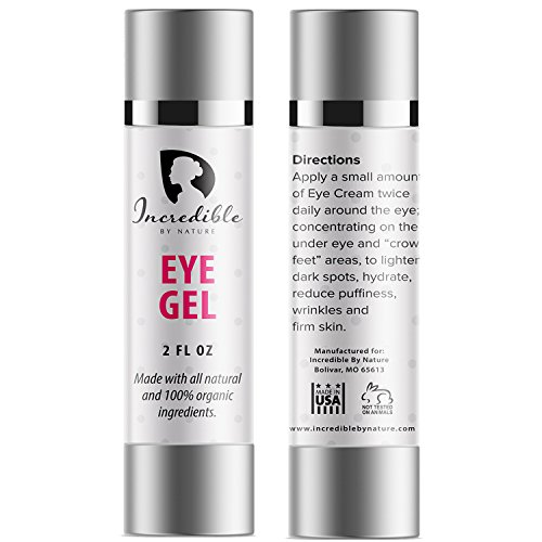 Natural & Organic Eye Gel - Best & Most Effective Anti Aging Under Eye & Face Moisturizing Retinol Cream To Reduce Puffiness, Wrinkles, Dark Circles, Bags, & Dry Skin (2 oz) - Incredible By - Advance Cream Hydration