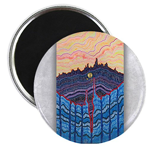 - 2.25 Inch Magnet Sunset Over Patagonia Golden Sun